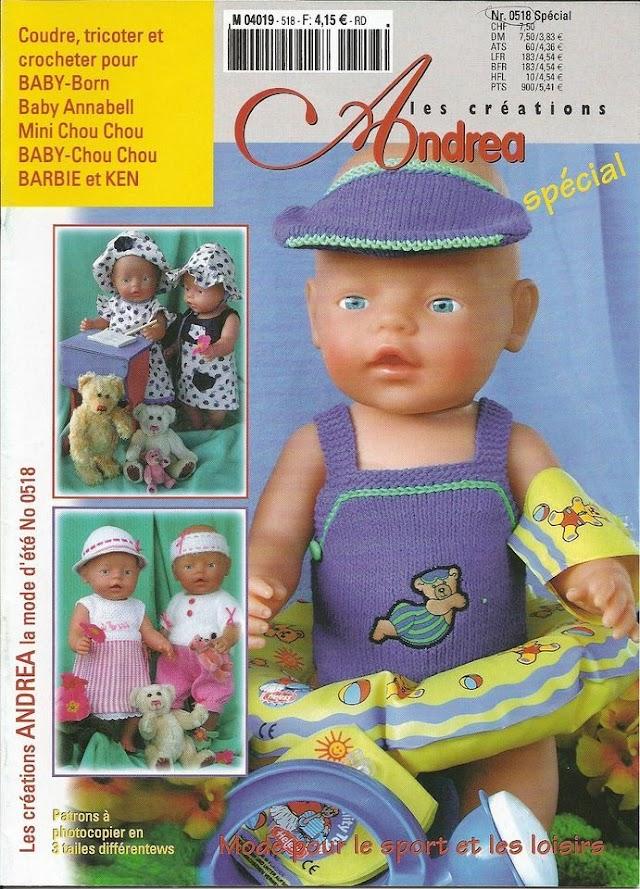 Revista Andrea Especial-Bonecas Moldes,Costura,Trico e  Crochê