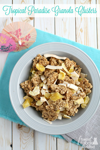 Need a mini escape to the tropics now? You can't go wrong with these crunchy Tropical Paradise Granola Clusters infused with sweet tropical flavors.