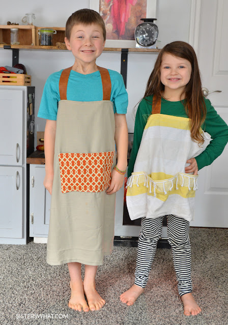 easy diy kids aprons