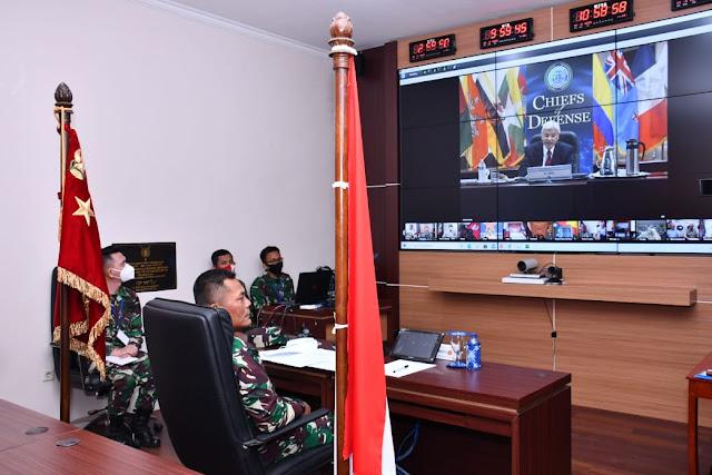 Kasum TNI Turut Konferensi Indo-Pacific Chiefs of Defense 2020 Secara Virtual