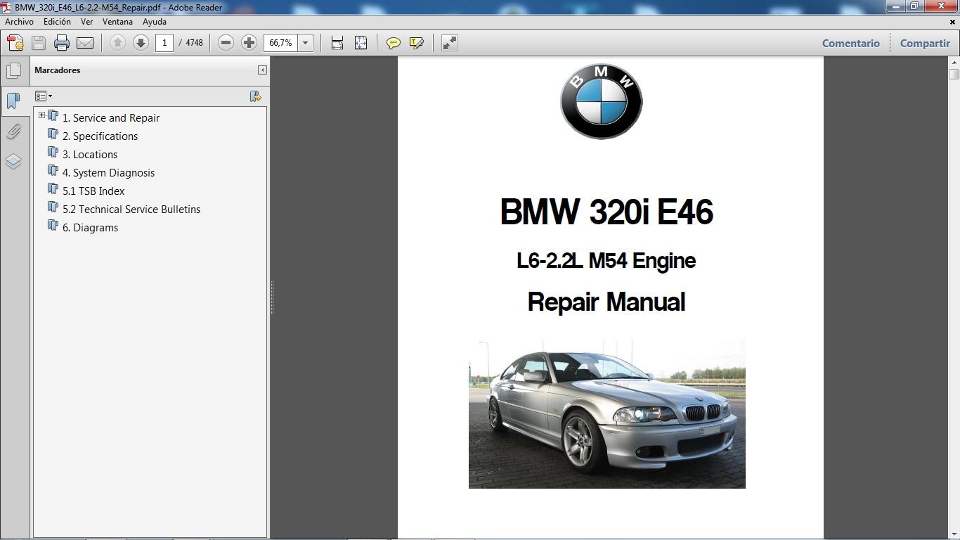 manual de taller del modelo bmw 320i chassis e46 motor m54 l6 2 2 lts tiene 4 748 p ginas en formato pdf consultas a manualestaller2000 gmail com [ 1366 x 768 Pixel ]