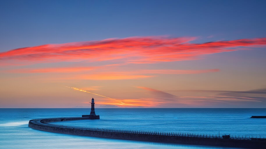 Colorful, Sky, Sea, Lighthouse, Scenery, 4K, #6.916