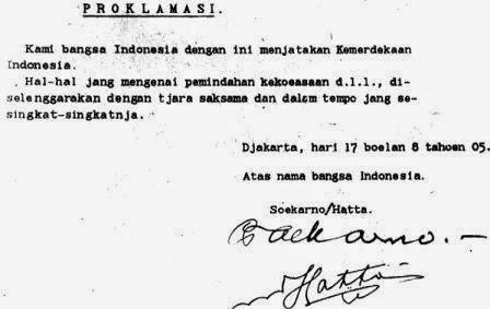 Sejarah Proklamasi Kemerdekaan Indonesia RI