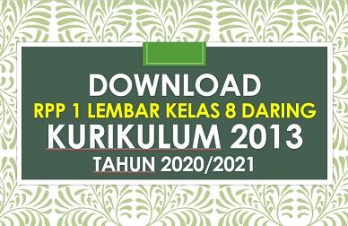 Contoh Rpp 1 Lembar Kelas 8 Daring Revisi 2020 2021 Sd Negeri Dabung 2