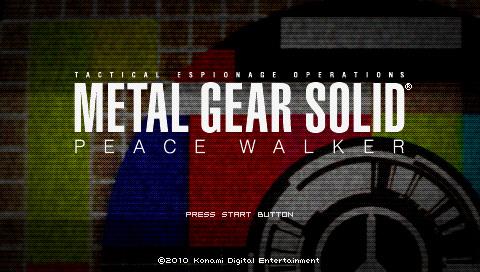 Metal Gear Solid Peace Walker title screen PSP