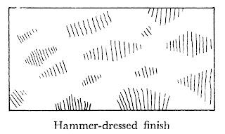 Dressing of stones hammer-dressed finish