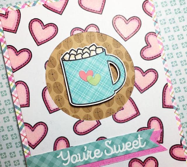 Sunny Studio Stamps: Mug Hugs Winter Themed Customer Card Share by Melissa Ann