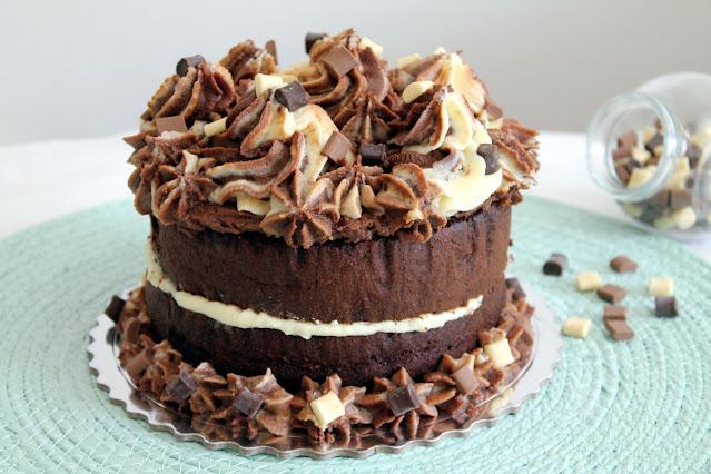 Tarta Carmela de 3 chocolates
