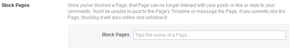 Block Page on Facebook