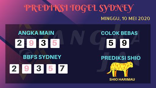 Prediksi Togel Sidney Minggu 10 Mei 2020 - Prediksi Angka Sydney