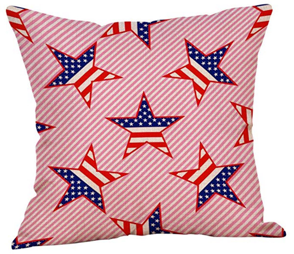Patriotic Ticking Pillow