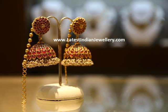 Ruby Jhumkis and Addigai