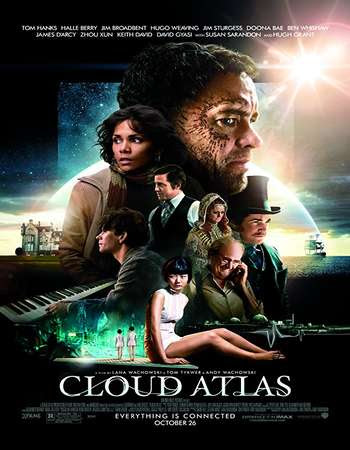 Poster Of Cloud Atlas In Dual Audio Hindi English 300MB Compressed Small Size Pc Movie Free Download Only At worldfree4u.com