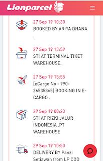 Booking In E Cargo Lion Parcel Artinya? Maksudnya?