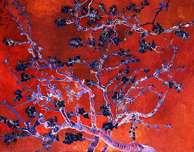 Orange Red Almond Blossoms van Gogh