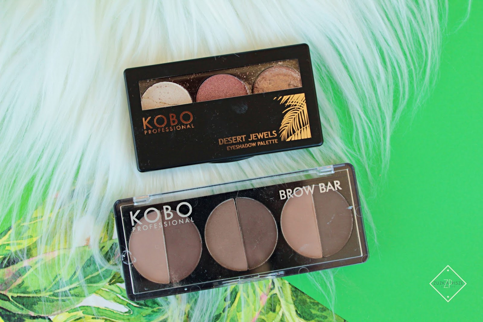 Kobo Professional paleta 3 cieni Desert Jewels + paleta cieni do brwi