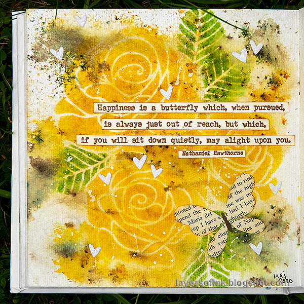 Layers of ink - Yellow Roses Tutorial by Anna-Karin Evaldsson.