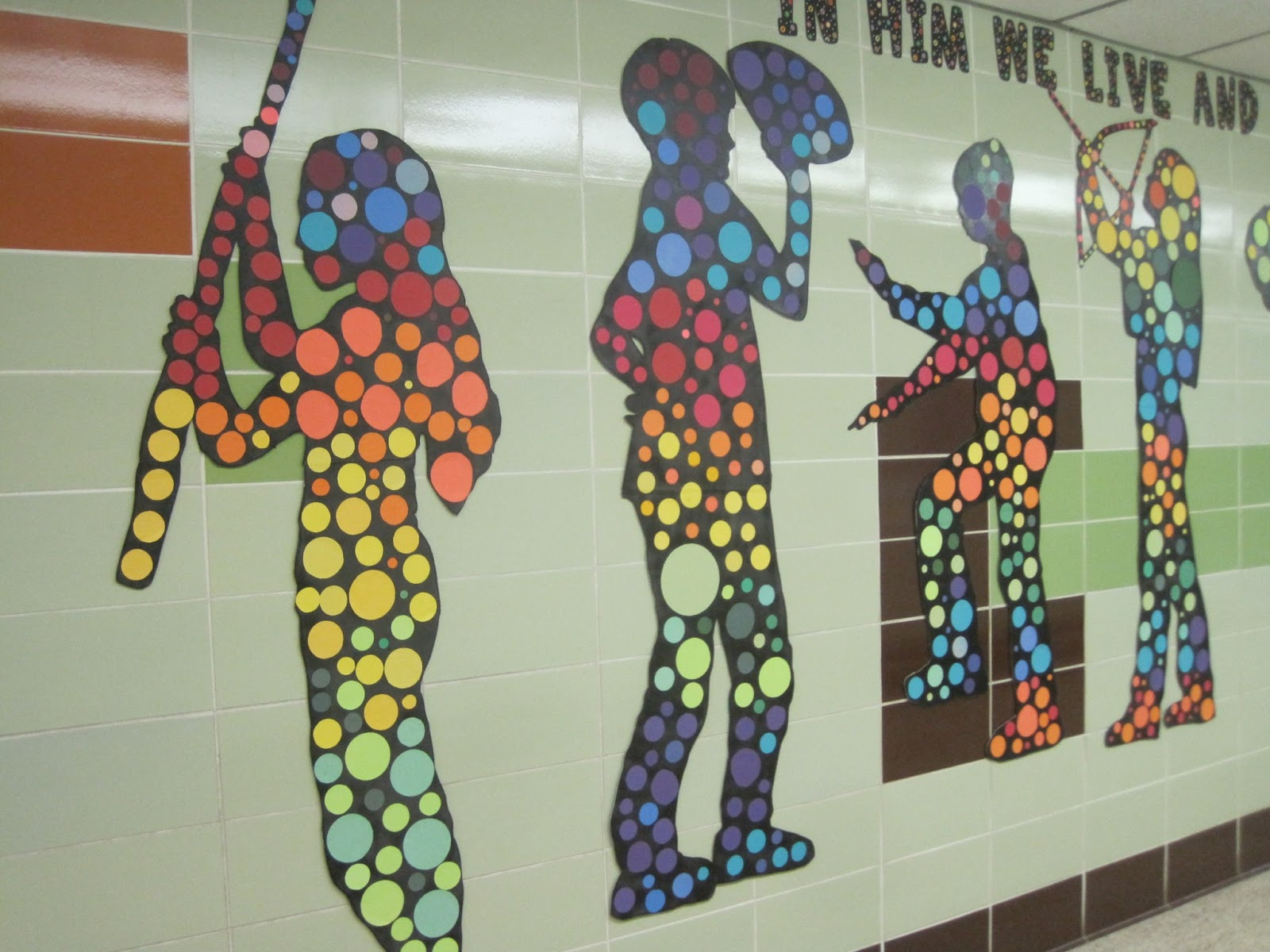 Using Action Silhouettes to Brighten a Hallway & Classroom Decoration | Inspired Class