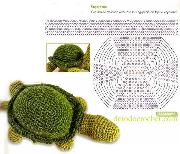 como-tejer-tortuga-crochet