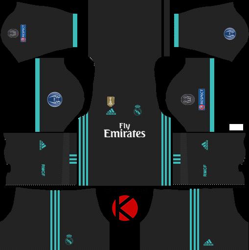 sale retailer 52439 3fb48 Real Madrid Kits 2017/2018 - Dream League Soccer - Kuchalana