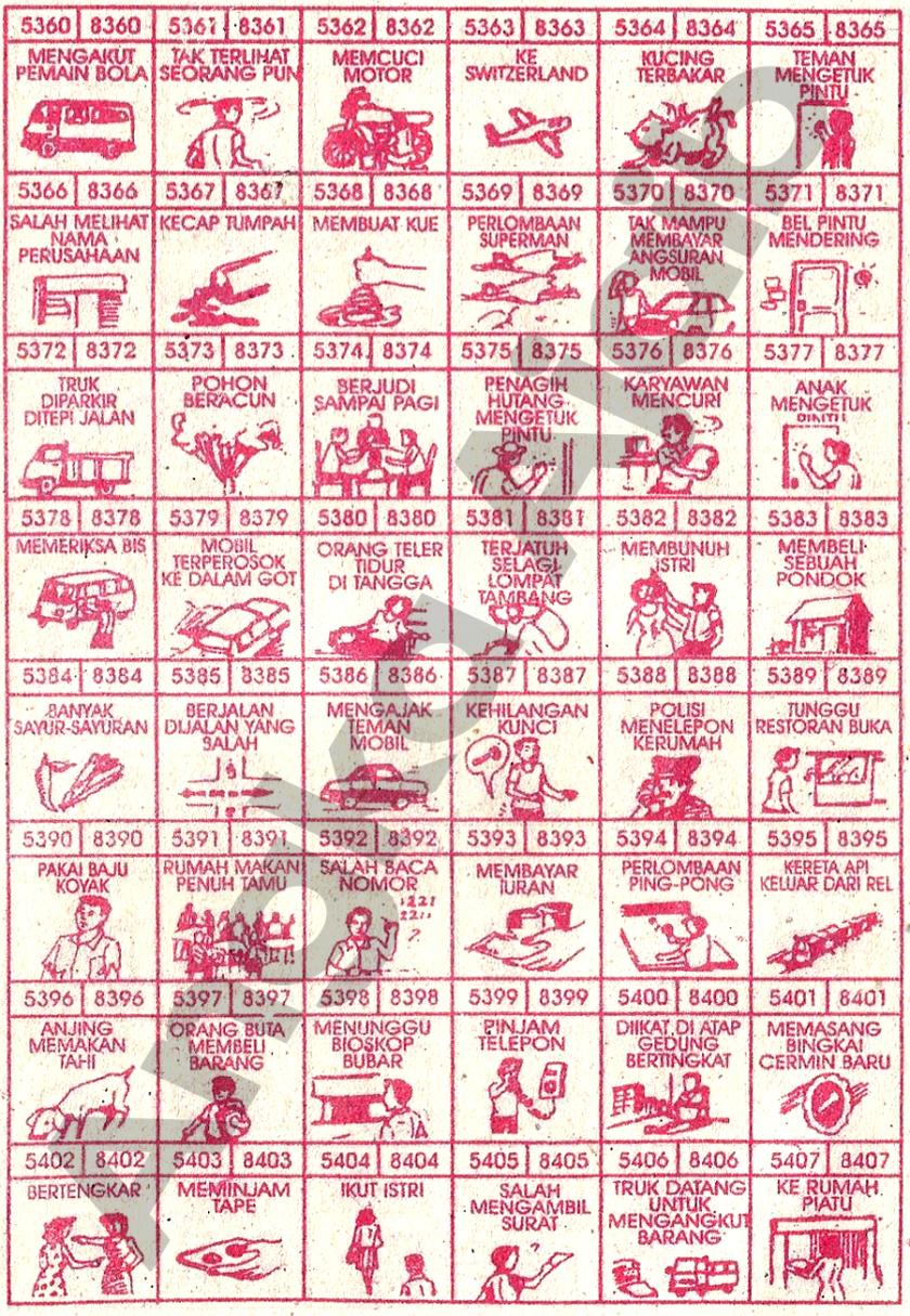 Buku Mimpi 4D Bergambar 5360-5407
