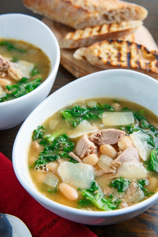 Tuna, White Bean and Kale Soup