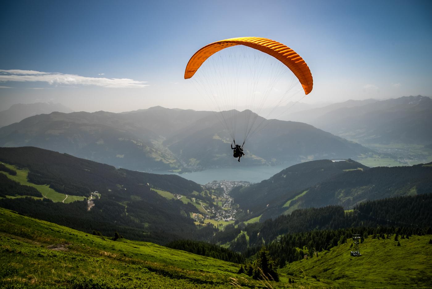 Paralotniarz Schmittenhöhe Alpy