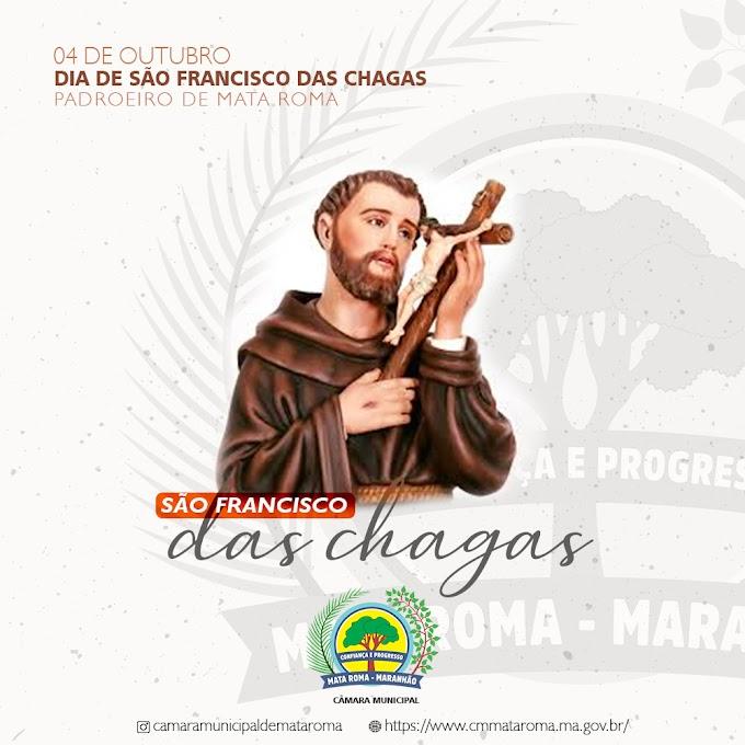 04 de outubro DIA DE SÃO FRANCISCO DAS CHAGAS - Padroeiro de Mata Roma - MA