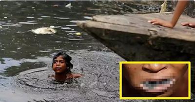 """Heran Ketika Melihat Anak Kecil Melompat Ke Sungai yang """"Bau dan Kotor"""", Tapi Setelah Tahu """"Alasan Dibaliknya""""… Ia Tidak Bisa Berhenti Menangis!!"""