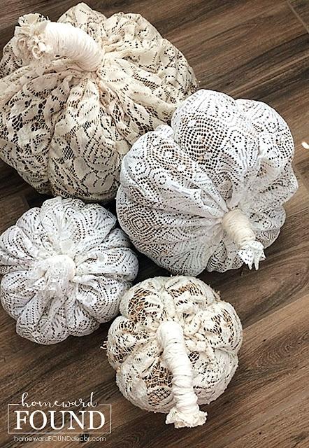 fall, autumn, fall decor, autumn decor, pumpkins, decorating with pumpkins, fabric pumpkins, no sew pumpkins, lace pumpkins, boho pumpkins, boho decor, boho style, macrame, soft scultpure pumpkins, neutrals, neutral decor, neutral fall decor, home decorating, diy,  diy decor, diy home decor, fabric crafts, repurposed, upcycled, vintage style.