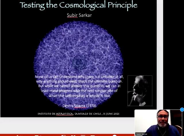 Testing the Cosmological Principle (Source: Subir Sarkar, Golden Webinar, June 11, 2021)