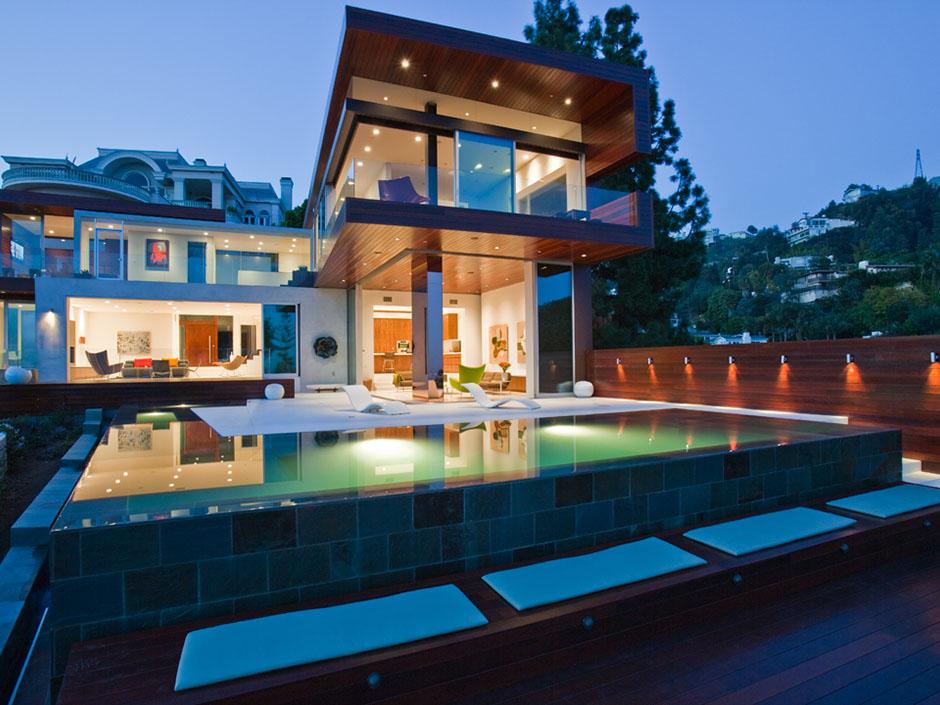 Modern Cabinet Beautiful Homes Sunset Plaza Drive