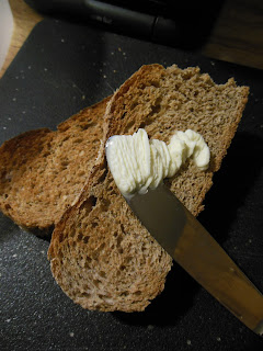 Homemade soft butter spread, all real, whole foods. Can be spread cold, from the refrigerator.