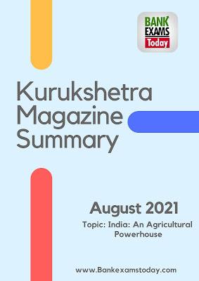 Kurukshetra Magazine Summary: August 2021