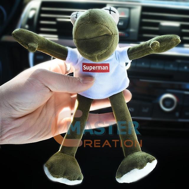 stuffed frog man