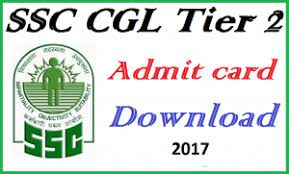 SSC CGL 2017 TIER-2 ADMIT CARD