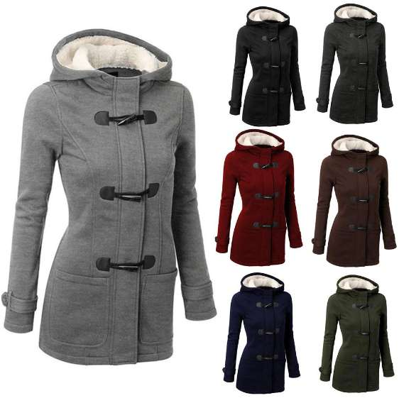 Women Coat Winter Cotton Overcoat Outwear Fashion Pockets Jacket Coat