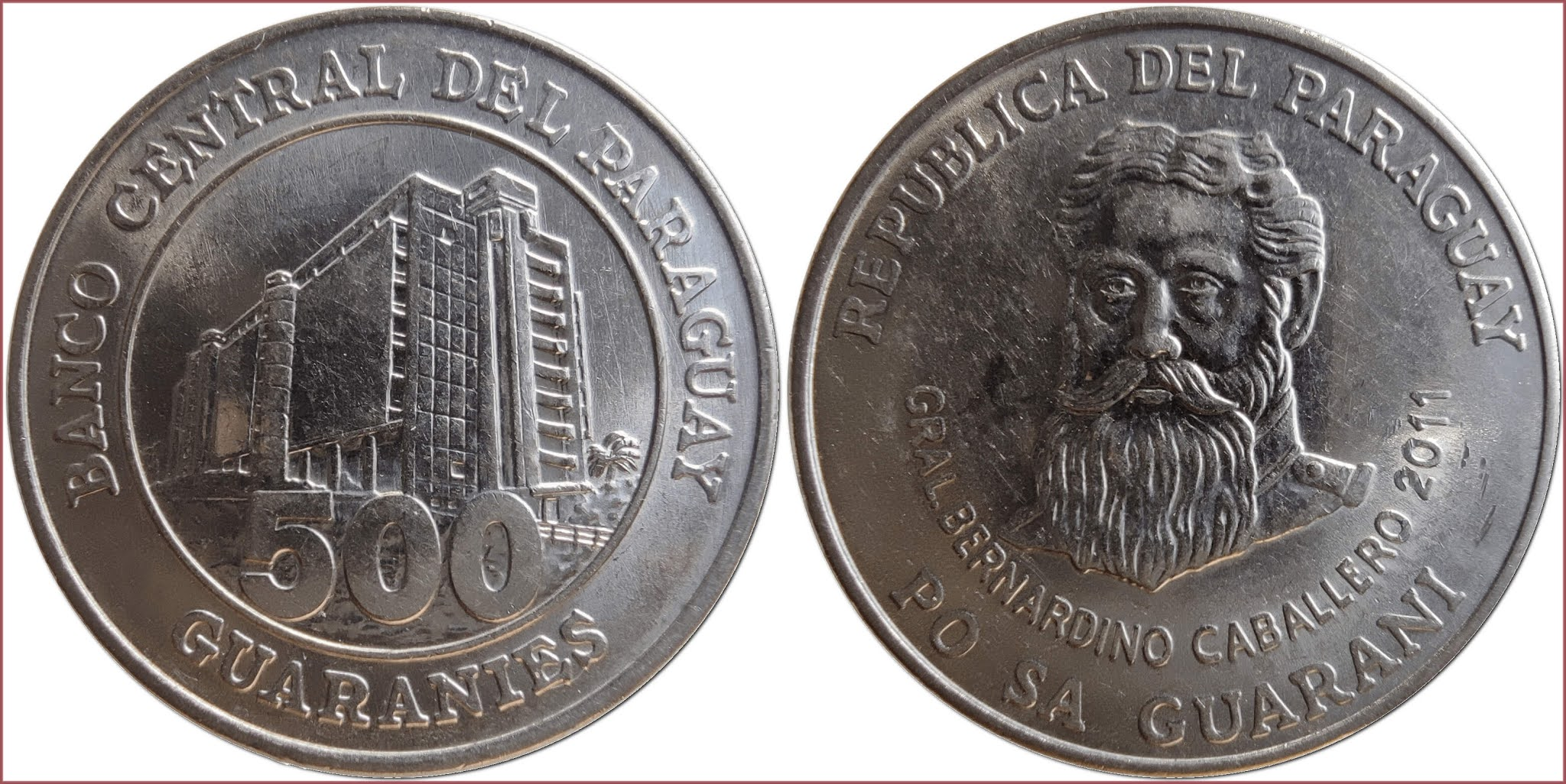 500 guarani (guaraníes), 2011: Republic of Paraguay