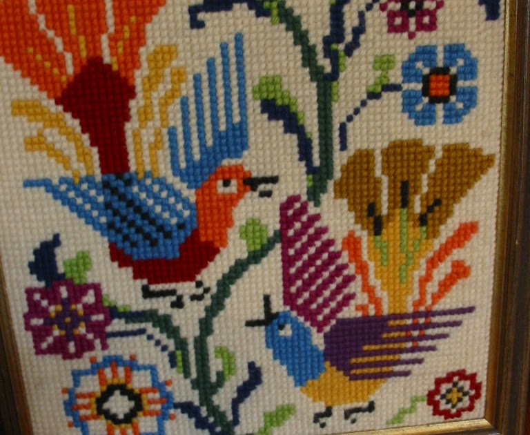 Gold Country Girls: Vintage Needlepoint Birds