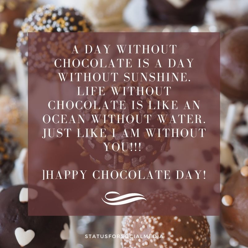 chocolate day images with quotes download