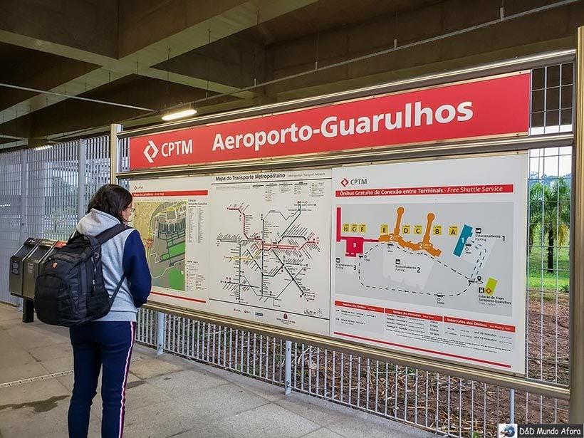 Estação de trem Aeroporto Guarulhos - Trem para Guarulhos, São Paulo: como funciona