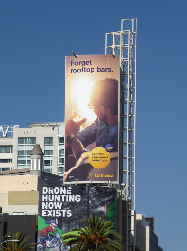 Forget rooftop bars Lufthansa Airlines billboard