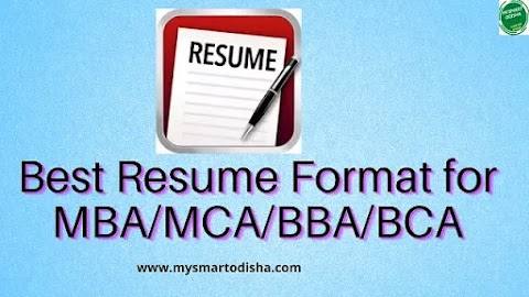 Odia Best Resume Format for MBA, MCA, BBA, BCA, Degree Odisha