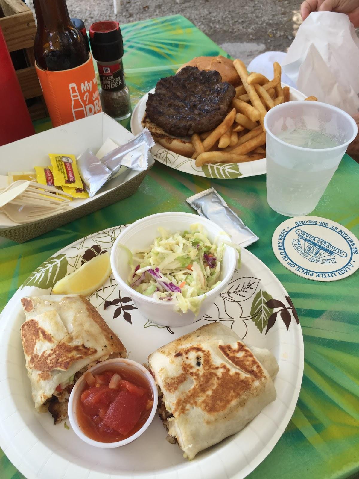 Key west diary lunch at schooner wharf for Plenty of fish cheyenne
