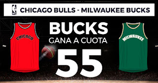 Paston Megacuota NBA Chicago Bulls vs Milwaukee Bucks 19-11-2019
