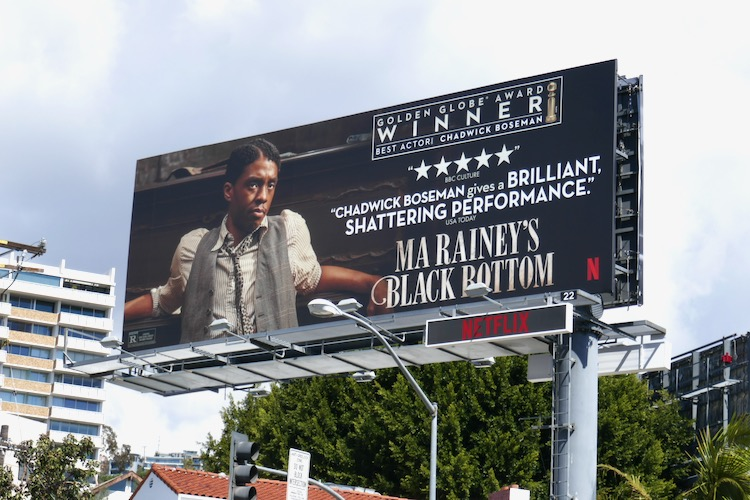 Chadwick Boseman Ma Raineys Black Bottom Golden Globe Winner billboard