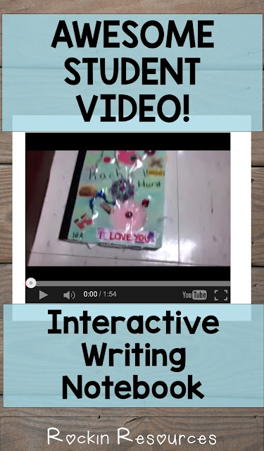 This student takes you through her interactive writing notebook pointing out writing skills and parts of the notebook.