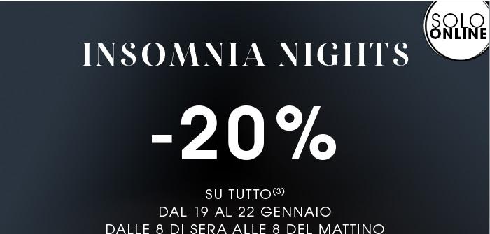 insomnia night sephora gennaio 2017