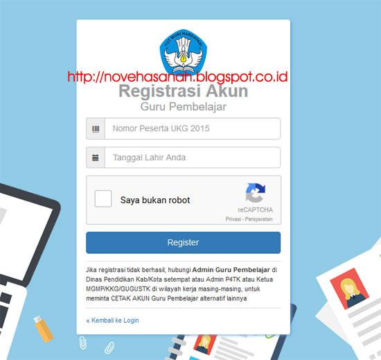 halaman registrasi akun guru pembelajar akan terbuka saat pertama kali pada cara registrasi dan login guru pembelajar online kemdikbud 2