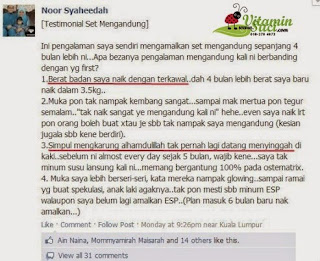 Testimoni Set Morning Sickness Shaklee